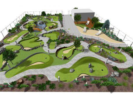 wizualizacje pola adventure golf