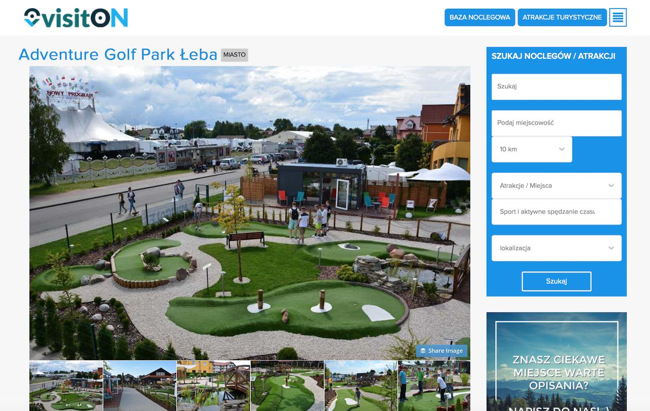 VisitON & Adventure Golf Park w Łebie