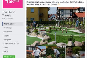 Blogerzy z The Blond Travels na polu w Adventure Golf Park